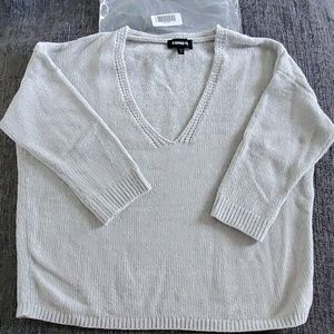 NWT! Velvet Chenille V-Neck Sweater
